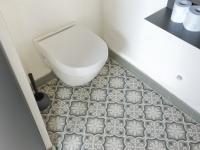 Carrelage imitation carreaux de ciments à Linselles (sanitaire)